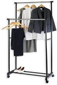 cloth hanger rack. Beautiful Hanger Simple Houseware Double Rod Portable Clothing Hanging Garment Rack To Cloth Hanger