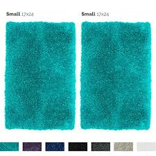 nestl bedding 2 pack small gy bath rug with non slip backing rubber super soft bathroom shower bath tub rug made of luxury microfiber