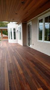 Mahogany decking applied with Penofin Exotic Hardwood Exterior ...