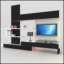 Living Room Wall Cabinets Furniture 3d Model Modern Design Tv Wall Unit With Bookshelf Furniture Ideas