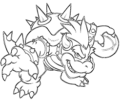 Small Picture Unique Bowser Coloring Pages 47 For Your Coloring Print With