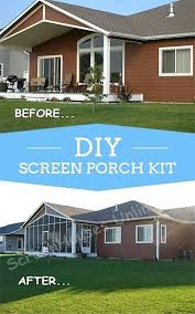 diy screen porch kits covered back deck with screen wall kit from added diy screen porch diy screen porch kits