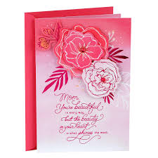 Hallmark Mothers Day Card For Mom Benefiting Susan G Komen Breast Cancer Research Pink Flowers