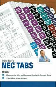Details About Mike Holts Nec Tabs Color Coded With Ohms Law Stickers And Wire Chart 2017