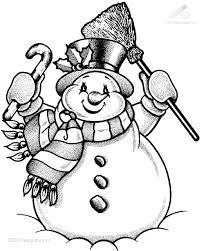 1001 Kleurplaten Seizoen Winter Winter Sneeuwpop Kleurplaat