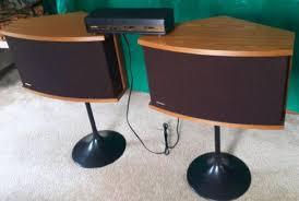 bose 901 speaker stands. bose 901 series vi speakers with equalizer stands in light walnut excellent speaker y