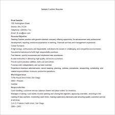 Basic Cashier Resume Word Free Download