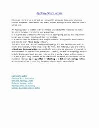 Business Apology Letter For Mistake Letter Of Apology For Mistake Best Of Sorry For Mistake Letter Best 7