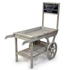 wooden display cart with chalkboard zoom thumb
