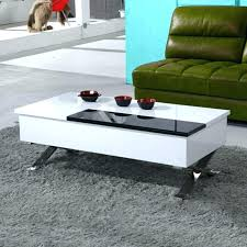 modern white coffee table large