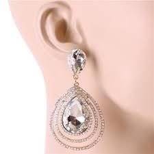whole crystal teardrop chandelier earring 164711gd