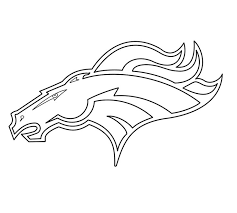 Small Picture Printable Denver Broncos Coloring Pages Coloring Me