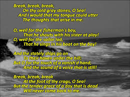 break break break by alfred lord tennyson analysis latex poetry  tennyson s break break break