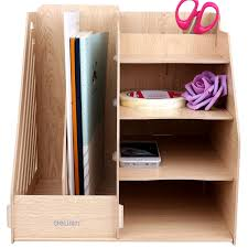 Cardboard Magazine File Holders 100 Set Wood File Tray DIY Magazine A100 File Desktop Organizer 99