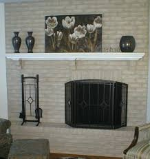 savannah gray brick fireplace update holiday wood mantel paint savannah gray brick fireplace update holiday wood mantel
