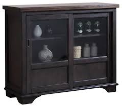 rutherford sideboard with glass sliding doors transitional buffets and sideboards by pilaster designs