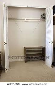 Stock Photo of Empty closet in a room San Diego California United
