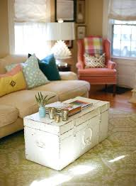 old worn white shabby chic trunk coffee table in living room ideas party food vintage tables