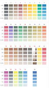Mixol Tint Color Chart Mixol Color Concentrates