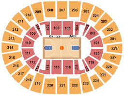 Uab Bartow Arena Tickets And Uab Bartow Arena Seating Chart