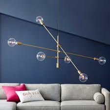 Arme 6 Kronleuchter Messing Decke Jahrgangv Moderne Sputnik