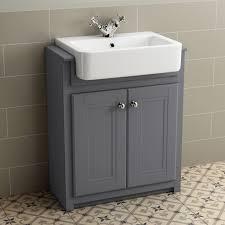 Grey Bathroom Sink Cabinets