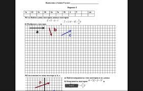 Контрольная Работа по Теме Векторы Класс Как написать  Контрольная работа для 9