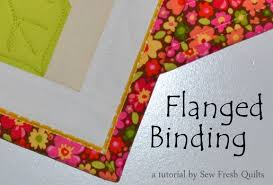 Sew Fresh Quilts: Flanged Binding Tutorial &  Adamdwight.com