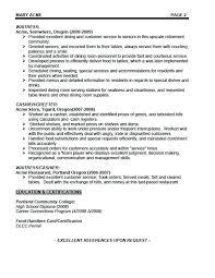 Examples Of Bartending Resumes Bartender Resume Skills From Sample Custom Bartending Resume Skills
