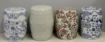 4 vintage chinese porcelain garden