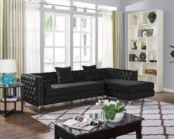 Satori Design For Living Amazon Com Lilola Satori Black Velvet Sectional Kitchen