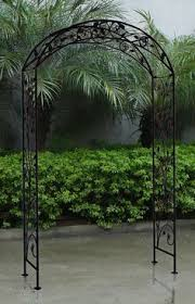 Small Picture Orleans Wrought Iron Garden Arbor Wrought iron Arbors and
