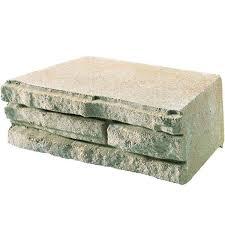 antique concrete retaining wall block