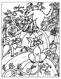 Adult Halloween Coloring Pages For Kids And For Adults Lineart