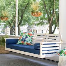 Belham Living Bellevue Deep Seating All Weather Wicker Porch Swing Bed with  Cushion | Hayneedle