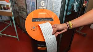 Short Edition Vending Machine In Us Classy New Short Story Machines Help You Pass Time In A Creative Way