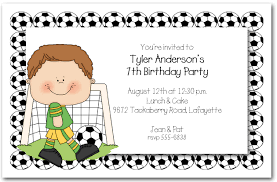 Children Birthday Invitations Boys Soccer Time