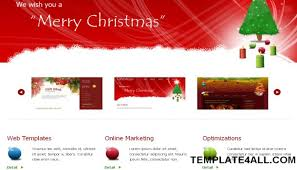 Free Christmas Website Templates Christmas Red Jquery Css Website Template