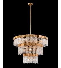 Image Table Lamp John Richard Ajc9007 Lighting New York John Richard Ajc9007 Crystal Icicle 18 Light 39 Inch Gold Leaf