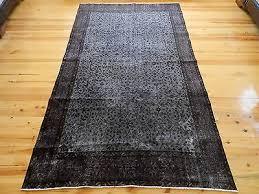 pastel faded gray overdyed rug 5 1 x 8 6 vintage turkish