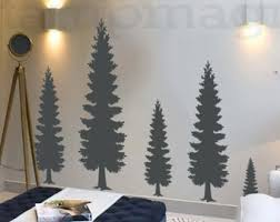 >pine tree wall decal etsy pine tree wall decal pine forest wall art vinyl christmas tree sticker home decor k374