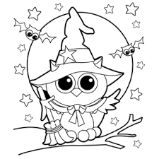 Halloween_Owl_Witch_Coloring_Page halloween coloring pages free printable coloring pages on free halloween coloring pages printables