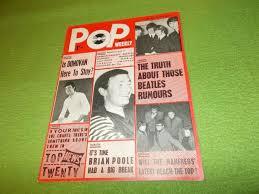 Pop Charts 1965 Vintage Pop Weekly Magazine Uk 1965 35 Brian Poole Donovan Beatles Ebay