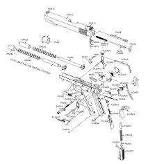 1911 pistol parts diagram