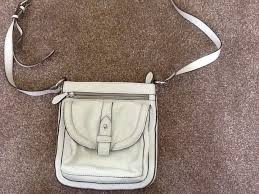 white leather cross handbag clarks never used perfect for summer