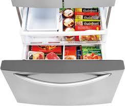 lg french door refrigerator freezer. lg lfxs24663s front freezer drawer filled lg french door refrigerator