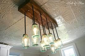 mason jar lighting fixtures build it mason jar chandelier from nest of bliss mason mason jar lamp fixture