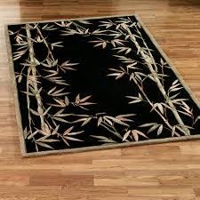 bamboo area rug black