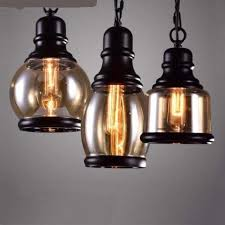 retro lighting. Loft Pendant Industrial Style Light In Iron And Glass For Chunky Retro Lamp Lighting