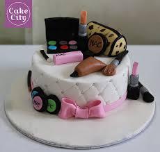 pink mac makeup cake